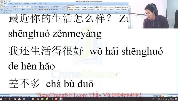 Giáo trình 301 Câu đàm thoại tiếng Trung Bài 23 lớp học tiếng Trung thầy Vũ tphcm