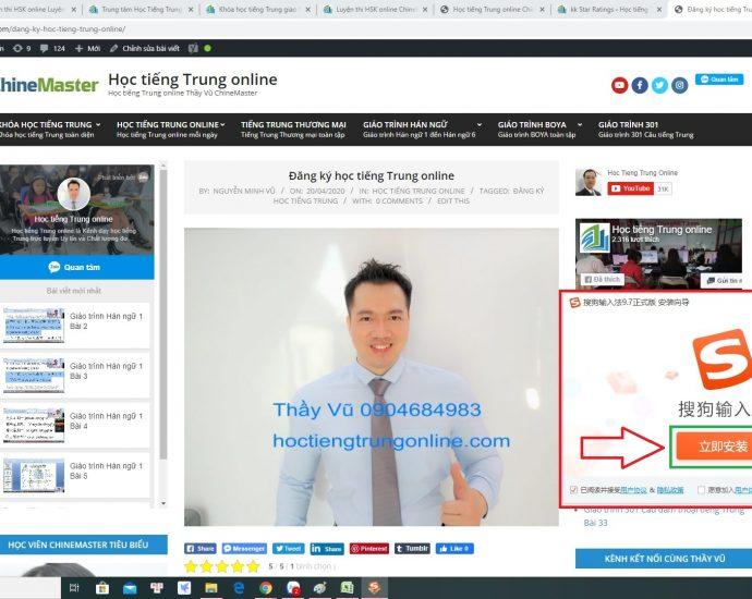 Gõ tiếng Trung trên máy tính Gõ tiếng Trung trên điện thoại Bộ gõ tiếng Trung SoGou