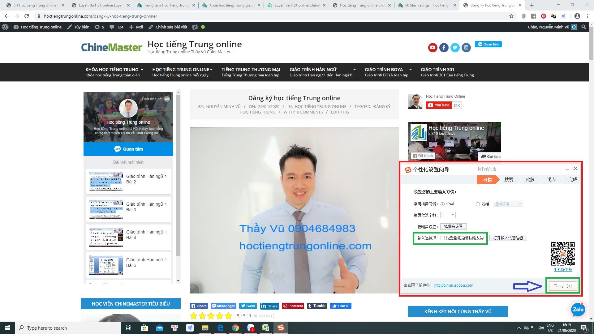 Cài bộ gõ tiếng Hoa SoGou trên máy tính Cài bộ gõ tiếng Trung trên Laptop và cài bộ gõ tiếng Trung SoGou PinYin trên PC