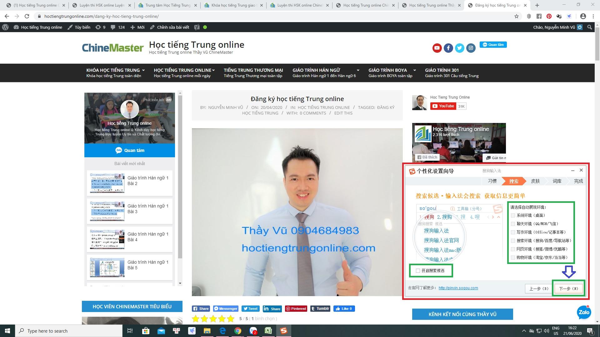 Hướng dẫn sử dụng bộ gõ tiếng Hoa SoGou PinYin bộ gõ tiếng Hoa hay nhất tốt nhất số 1 phổ biến nhất được giới thiệu bởi Thạc sỹ Nguyễn Minh Vũ