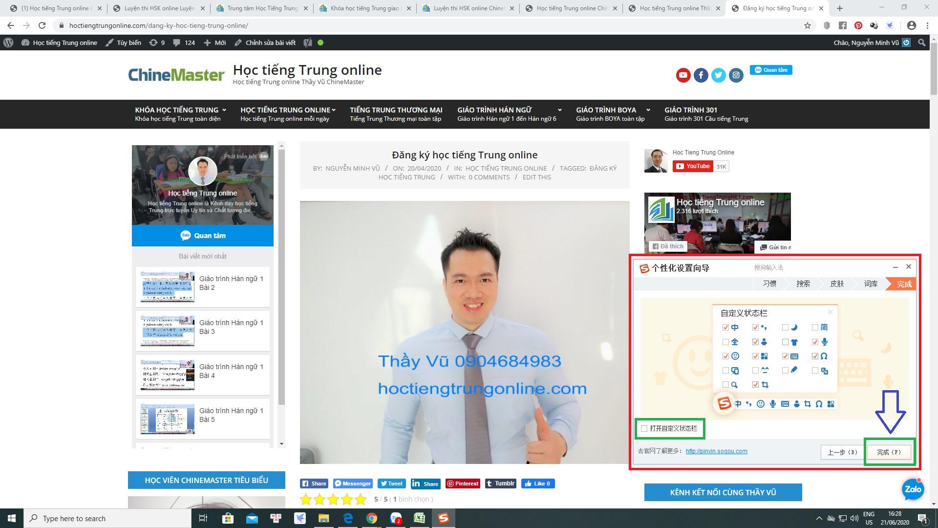 Cách sử dụng bộ gõ tiếng Hoa SoGou PinYin bộ gõ tiếng Trung được sử dụng nhiều nhất Việt Nam do Thạc sỹ Nguyễn Minh Vũ đề xuất giới thiệu