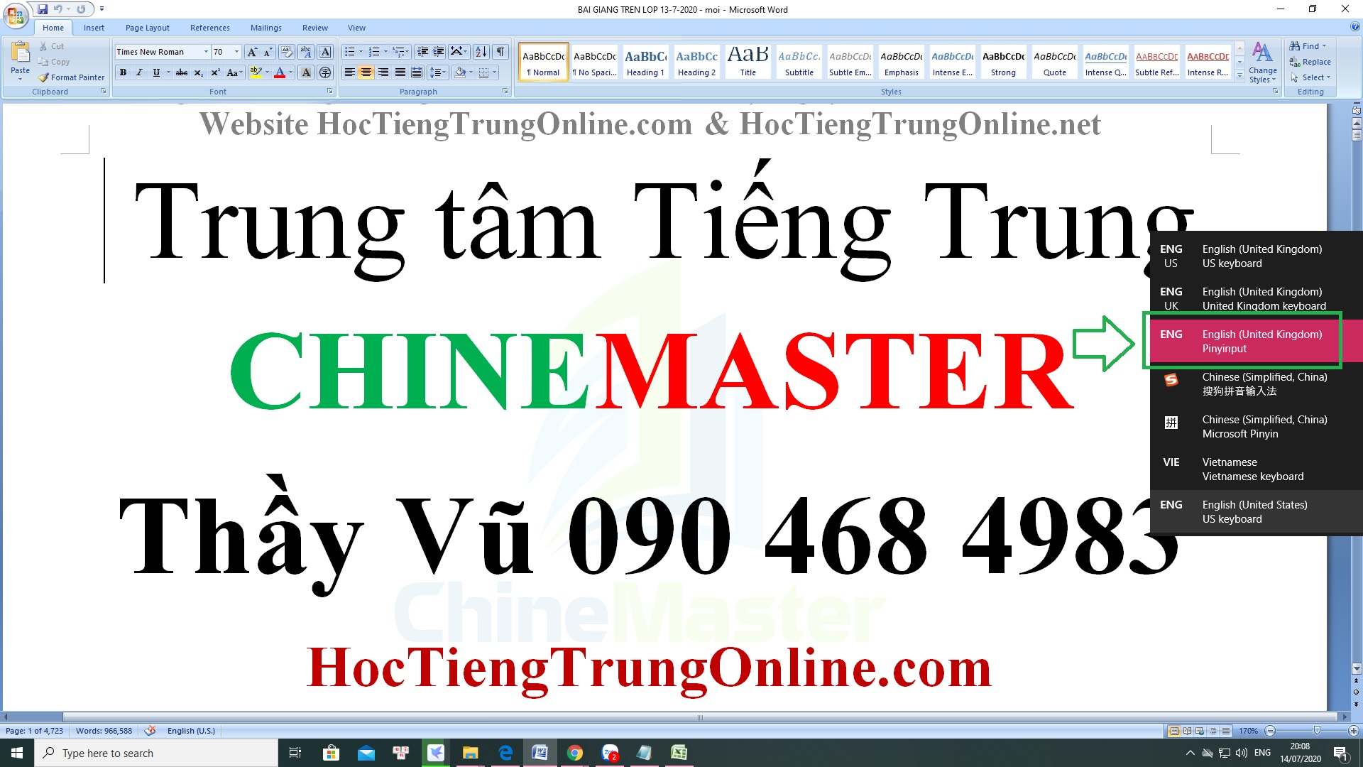 Gõ tiếng Trung có dấu