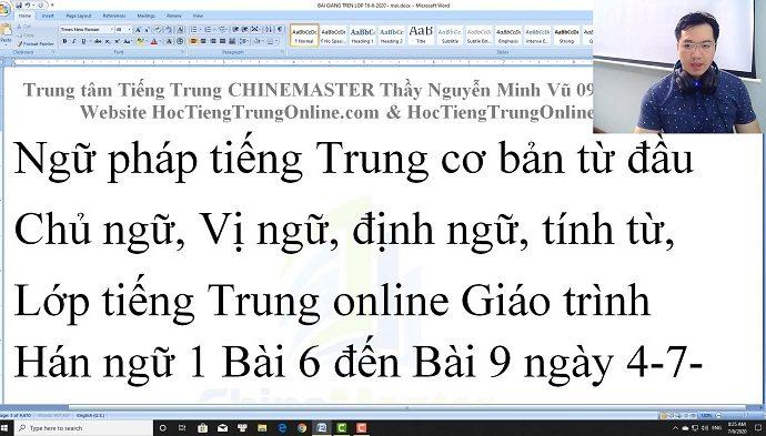 2600 câu tiếng Trung giao tiếp Bài 115 trung tâm tiếng Trung thầy Vũ tphcm