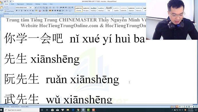 2600 câu tiếng Trung giao tiếp Bài 123 trung tâm tiếng Trung thầy Vũ tphcm