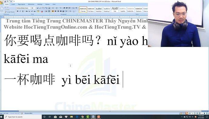 1900 Câu tiếng Trung bài 18 trung tâm tiếng Trung thầy Vũ tphcm