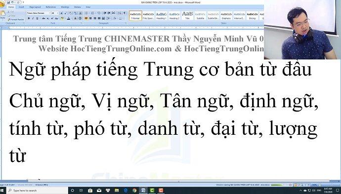 1900 Câu tiếng Trung bài 24 trung tâm tiếng Trung thầy Vũ tphcm